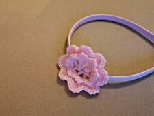 Handmade Soft Baby Pink Crotchet Flower Hairband Luxury Party Bag Filler