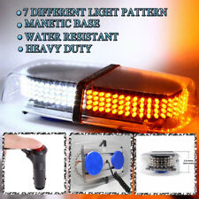 Zone Tech 240 LED Emergency Warning Roof Top Strobe Snow Plow Light Amber/White