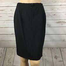 Max Mara Pencil Skirt Womens Size 12 Virgin Wool Black Career Stretch