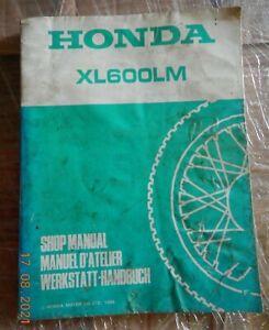 Reparaturanleitung Honda XL600 LM (PD04) ,Werkstatthandbuch aus 1985