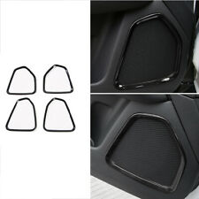 ABS Fit For Jeep Compass 2017-2020 Black Inner Door Speaker Ring Cover Trim 2pc