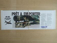 7/1988 PUB CASA CN-235 MILITARY TRANSPORT AIRCRAFT ENGINE ORIGINAL FRENCH AD