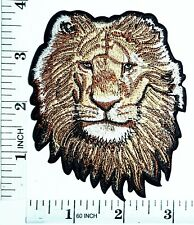 Head Lion Patch king of the jungle cat puma jaguar Embroidered Sew T-shirt Hat