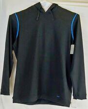Nordstrom Men Hoodie Size XXL Sweatshirt Black Blue Trim Pullover Active Sweater