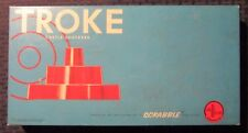 1961 TROKE Castle Checkers FVF/FN Complete Scrabble / Selchow & Righter