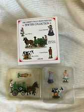 Liberty Falls Pewter Collection Ah196 People, Steam Tractor New In Box- M