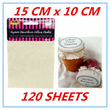 120 PK Decorative Natural Cotton Material Sheets Jam Jar Package Craft Party FW