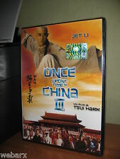 ONCE UPON A TIME IN CHINA III DVD NUOVO SIGILLATO JET LI