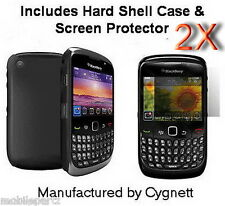 Pack of 2 Black Frost Soft Shell Cases by Cygnett for BlackBerry Curve 9300 3G