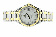 CONCORD SARATOGA SL STAINLESS STEEL 18K YELLOW GOLD DIAMOND DIAL W/ MOSAIC FACE