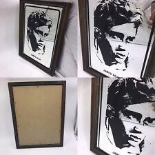Vintage Retro James Dean Wooden Framed Picture Mirror