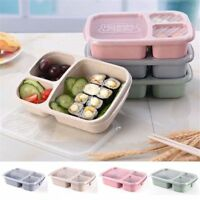 Wheat Straw Meal Storage Lunch Container 3 Compartment Food Prep Box