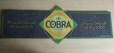 More details for cobra beer lager rubber bar pub runner mat brand new 100% genuine very rare