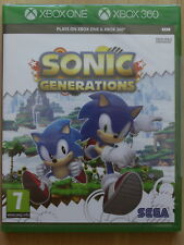 Sonic Generations Pour Xbox 360 & Xbox One (NEW & SEALED)