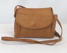 Barganza Brown Leather Crossbody Shoulder Bag