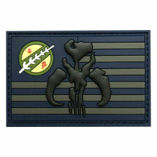USA Flag Mandalorian Bounty Hunter Boba Fett Morale Patch (3d-pvc Rubber)