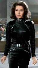 Emma Peel Soft Sheepskin Leather Zipper Catsuit Jumpsuit Must-Have Fall 2021