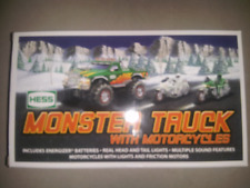 HESS* 2007* TOY* MONSTER* TRUCK* AND* MOTORCYCLES* MIB*