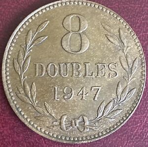 Guernsey - 8 Doubles Coin - 1947 H (GY15)
