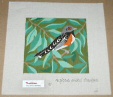 "Betty Smith Traditions ""Rufous Sided Towhee"" Bird Handpainted Needlepoint Canvas"