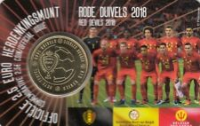 """Belgien 2018 Coincard 2,50 Euro """"The Red Devils"""" - unsere Wahl"""