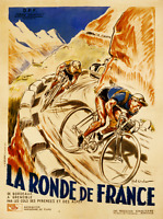 "La Ronde de France Poster Vintage Bicycle Poster - Cycling 11"" x 17"" bicycle art"