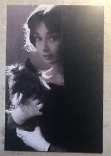 Movie Postcard ~ Audrey Hepburn sunny with dog  B&W