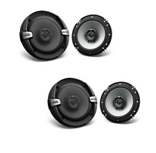 2 Pairs JVC CS-DR162  6.5 Inch 2-Way 4 ohm 300 watts Coaxial Car Speakers