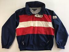 Vintage Men's Nautica Yachting Jacket Navy Blue Red Size Large