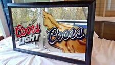 VINTAGE FRAMED COORS BEER MIRROR SIGN