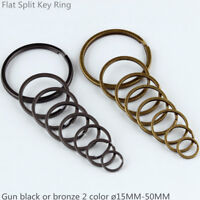 Flat Key Rings Keychain Black or Bronze 2 Color Split Keyring 15mm-50mm 5-500PCS