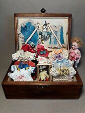 Attractive presentation box tiny dress for antique French or German  doll