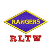 WWII US Army RANGERS RLTW Ranger EMBROIDERED Polo Shirt