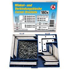 BGS Winkelverbinder Satz 180 tlg Winkel Verbindungsblech abgewinkelte Platten