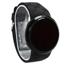 Men's Silicone/Rubber Band Polished Round Wristwatches