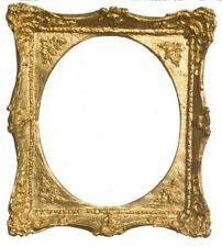 Dollhouse Miniature Ornate Picture Frame in Gold Finish by Falcon Miniatures