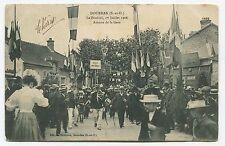 Dourdan - Festival du 1er juillet 1906. Avenue de la Gare. 1906