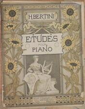 HENRI BERTINI 25 ETUDES STUDI OPERA 137 MUSICA PIANOFORTE PIANO SPARTITI MUSIC