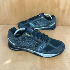 Reebok Crossfit Nano 5.0 Kelvar Training Shoe Mens 9 Black Tin Gray Athletic Gym