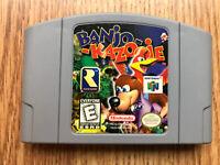 AUTHENTIC! Banjo Kazooie Nintendo 64 N64 Game - Tested - Working - Original Cart