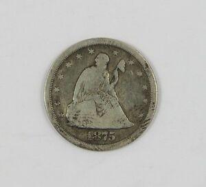 1875-S Twenty Cent Piece - Good+ - Ships Free!