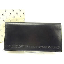 Valentino Wallet Purse Long Wallet Black Woman unisex Authentic Used T523