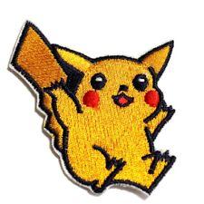 Pikachu Bügelbild Aufnäher Applikation Patch Nähen Basteln Verzieren