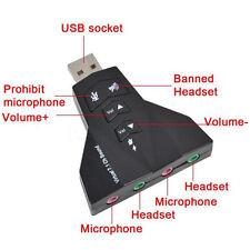 3D Audio Card Converter Dual Sound Card Virtual 7.1 USB 2.0 Adapter  Big Sale