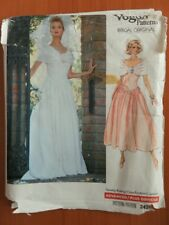 Vogue 2425 Sewing Pattern Bridal fashions Bride bridesmaid evening gown dress 16