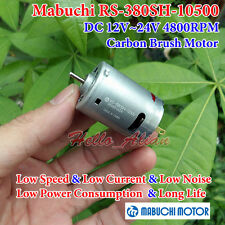 MABUCHI RS-380SH-10500 DC 12V~24V 4800RPM Small 28mm Round DC Motor Long Life