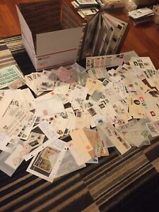 Giant WW US Stamp Estate Lot L Flat Rate Box Loaded Older Mostly  Nice Lot 16