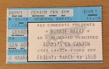 1988 BONNIE RAITT TOMMY'S DALLAS CONCERT TICKET NICK OF TIME SWEET FORGIVENESS