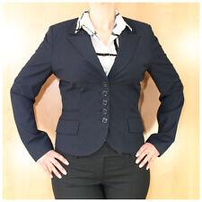 Comma Blazer Gr. 40 blauschwarz Damenblazer für Anzughose Hosenanzug (#2564)