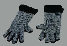 Ritter Ketten Handschuhe Rüstung Helm Reenactment  Mittelalter Larp Leder R82S